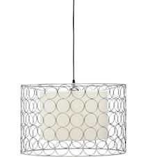 Ring Taglampe 50cm Krom/Offhvid