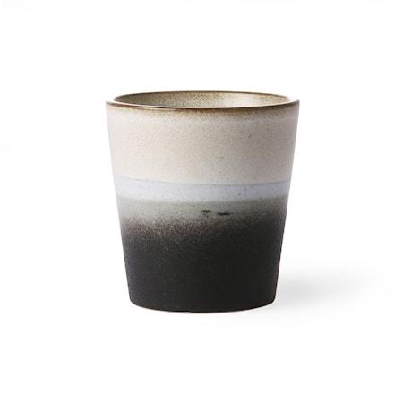 Billede af 70's Keramik Krus Sort og Hvid 20 cl