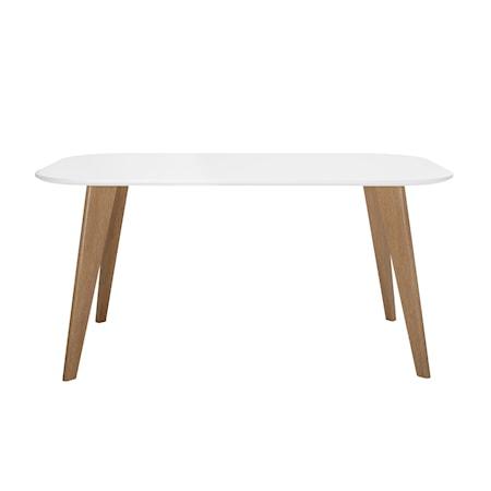 Mill Spisebord, Hvid, MDF
