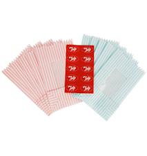 Papperspåse Retro Randig 10-pack Blå/Rosa