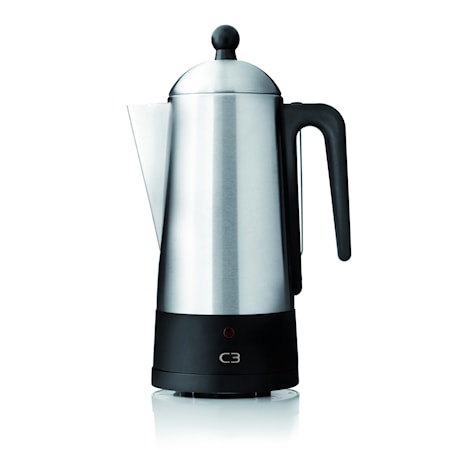 C3 Design Eco Electric Percolator Black/brushed Stainless Sel
