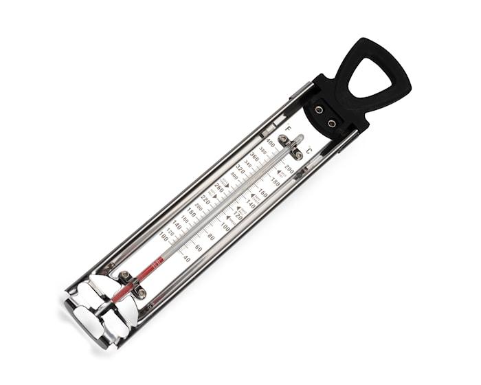 Thermomètre confiseur acier/noir op