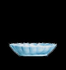 Oyster Skål Turkos 23x18cm