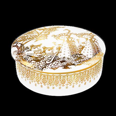 Mascarade Dosa med lock guld Ø16 cm