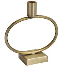 lysestake i jern sirkel 17 cm - messing