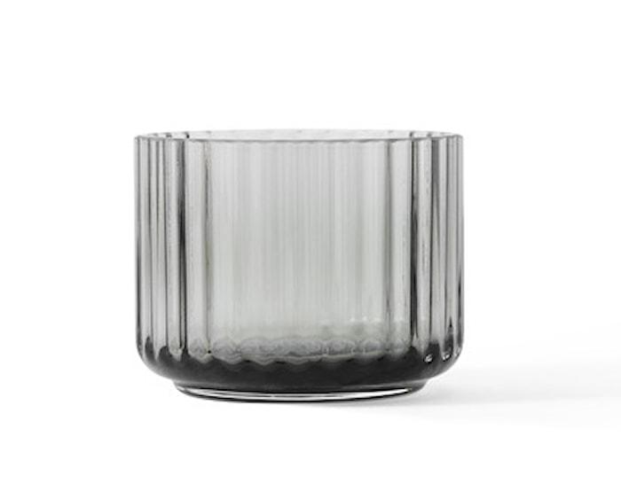 Lyngby Ljuslykta Smoke Munblåst Glas Ø6,7 cm