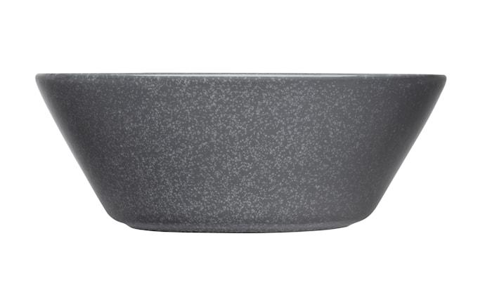 Teema kulho 15 cm meleerattu harmaa