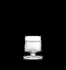 Stub Glas Blå rör Klar 21 cl 4 st
