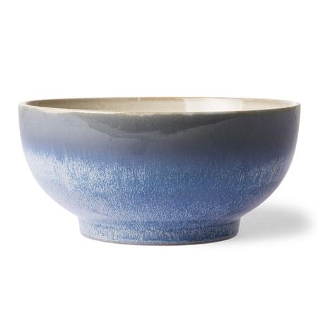70's Keramik Salladsskål L Blå