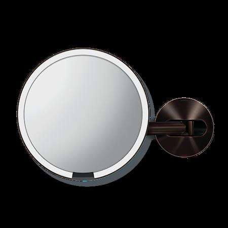 Väggmonterad Sensor Spegel Mörk Brons 20 cm