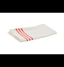 Kjøkkenhåndkle 50 x 70 cm Kremhvitt med røde striper