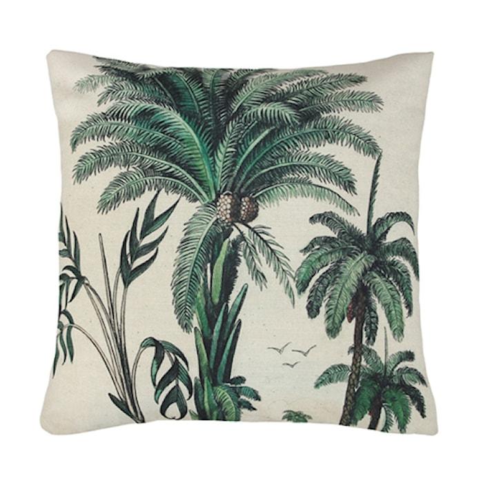Kudde Tryckt Mönster Palmträd 45x45 cm