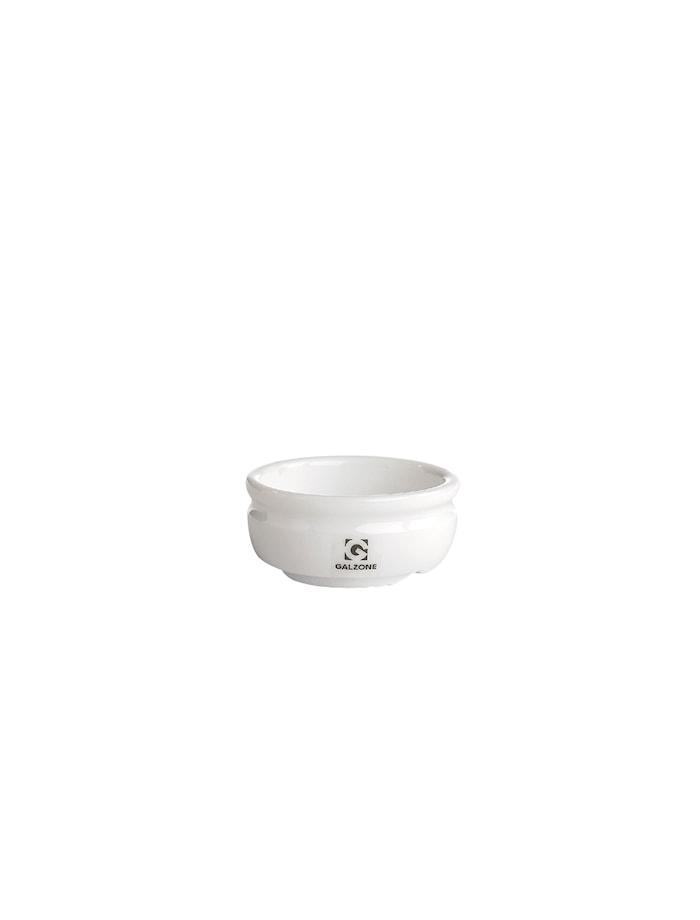Saltkar Porlsin Vit 6,4 cm