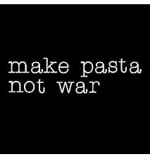 Neon art - Make pasta not war