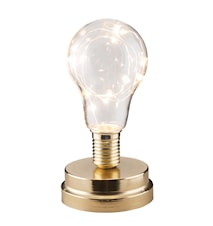 Lyhty LED-nauhalla Messinki 18 cm