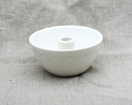 Skål med ljushållare Bomull 16x7 cm