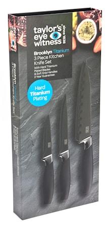 Brooklyn Knivset Titanium 3 st
