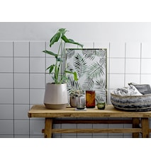 Deco Plade Grøn Stentøj 10,5x10,5 cm