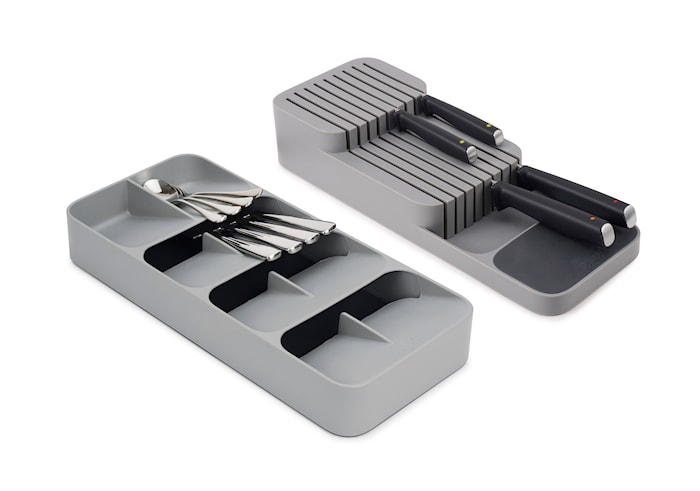 DrawerStore 2 pk Large Cutlery & Knife Organizer Set