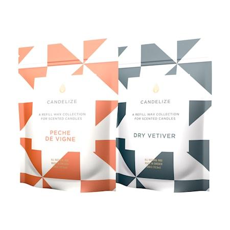 Doftljus Refill Dry Vetiver/ Peche De Vigne 2-Pack