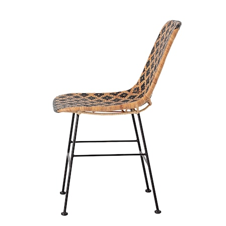 Kitty Dining Chair, Black, Rattan