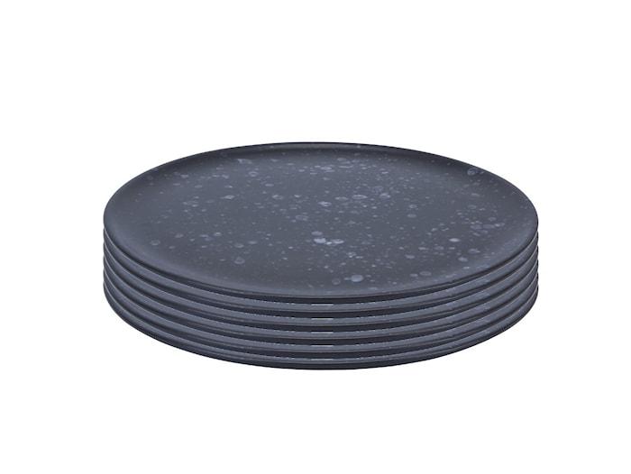 Raw Middagstallrik Nordic Black 6 st 28 cm