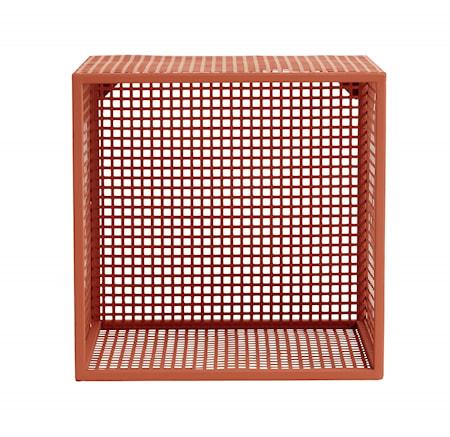 WIRE Metallväggställ 32x32cm Terrakotta