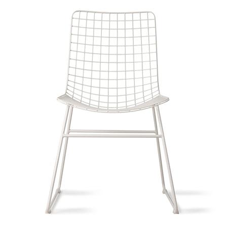 Stol Metal Hvid