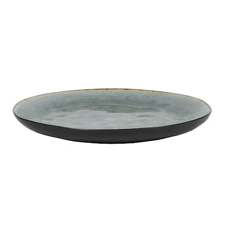 Middagstallrik Grå Krackelerad 26,5 cm