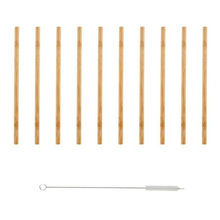 Bambi Bambu Sugrör 10 pack med borste