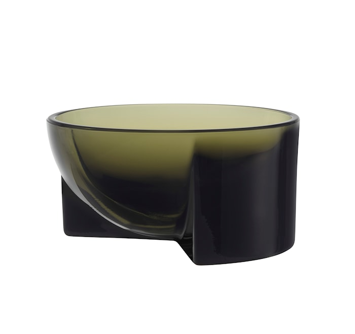 Kuru Glasskål Mossgrön 13x6 cm