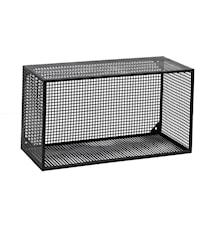 Wire vegghylle rektangulær - Svart