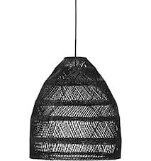 Maja Outdoor Korbweide-Lampenschirm Schwarz 53cm
