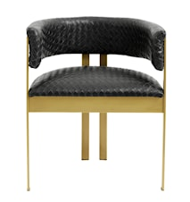 EA dinner chair black weaving/golden