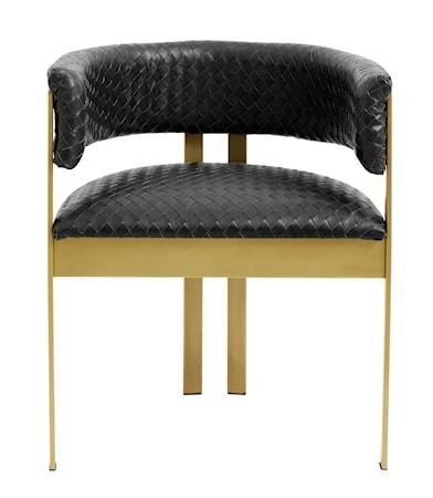 EA dinner chair black weaving/golden