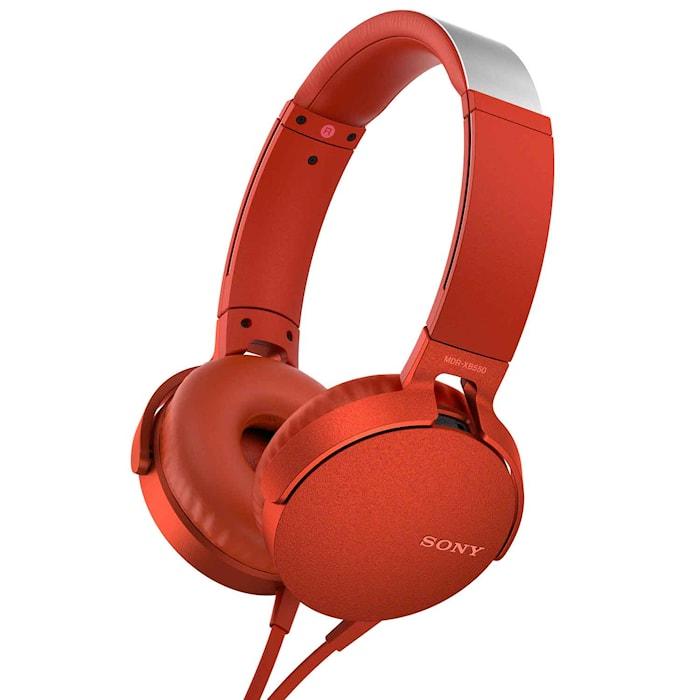 Headset MDR-XB550AP Röd