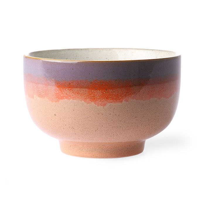 Ceramic 70's Noodle Skål Sunset