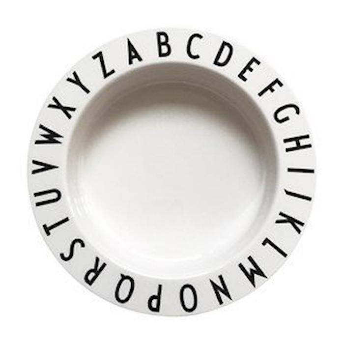 Eat & Learn Djuptallrik Vit Tritan