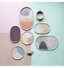 Gallery Kleiner Keramikteller Minzgrün/Nude