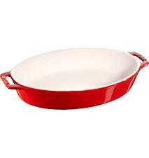 Oval form 29 cm röd 2,3 L