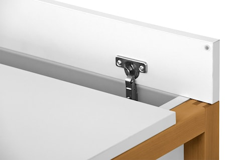 Northgate MEL medium skrivebord – Hvid/Eg