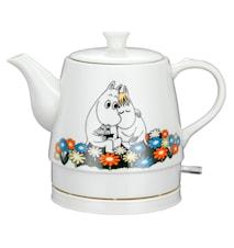 Romance Keraaminen Vedenkeitin Flower Pot Design 0,8 l