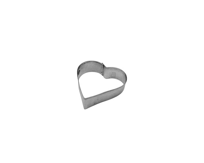 Kakmått 4cm Stål, Hjärta