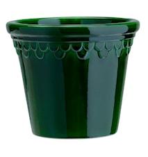 Köpenhamn Kruka Glazed Green Emerald 25 cm