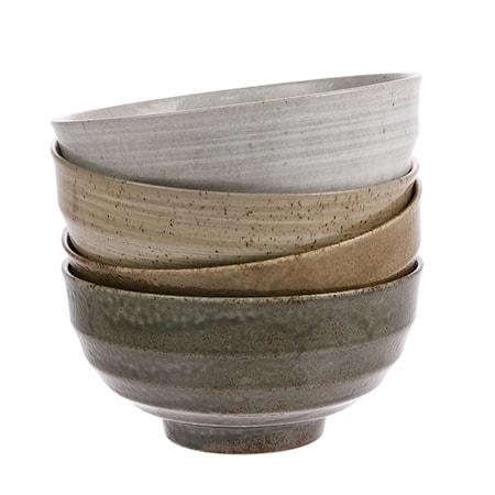 Japanska Keramik Skålar set om 4