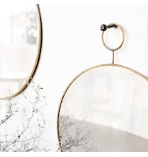 Spegel The Loop Ø 32 cm Mässing