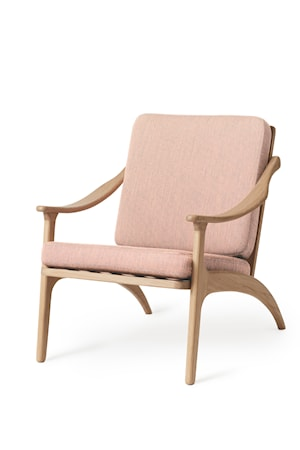Lean Back Lounge Chair Pale Rose EK