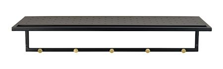Jersey Hattehylde Sort Metal/Guldknager 80 cm