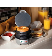 Breakfast Sandwich Maker Svart