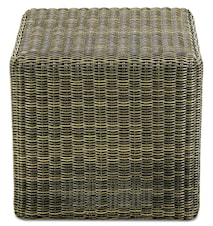 Cube footstool pall - Bark